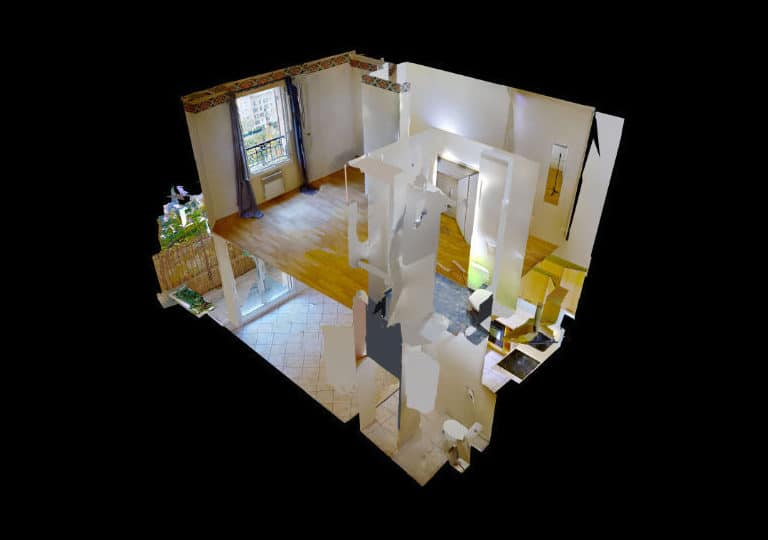 agence immobilière 94: appartement 2 pièces 40 m² en duplex, plan détaillé