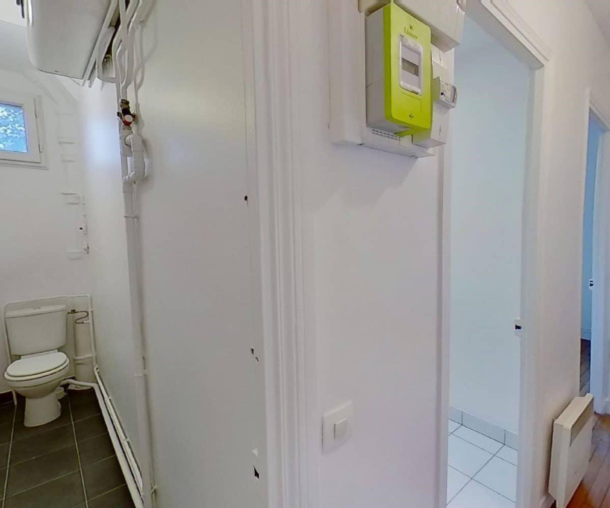 appartement maison alfort: studio 24 m², wc séparé de la salle d'eau