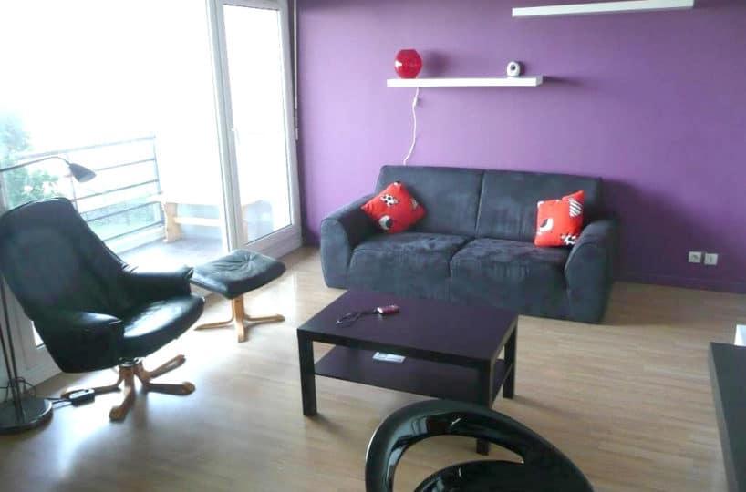 studio à louer maisons-alfort: 31 m², pièce principale lumineuse ouverte sur le balcon