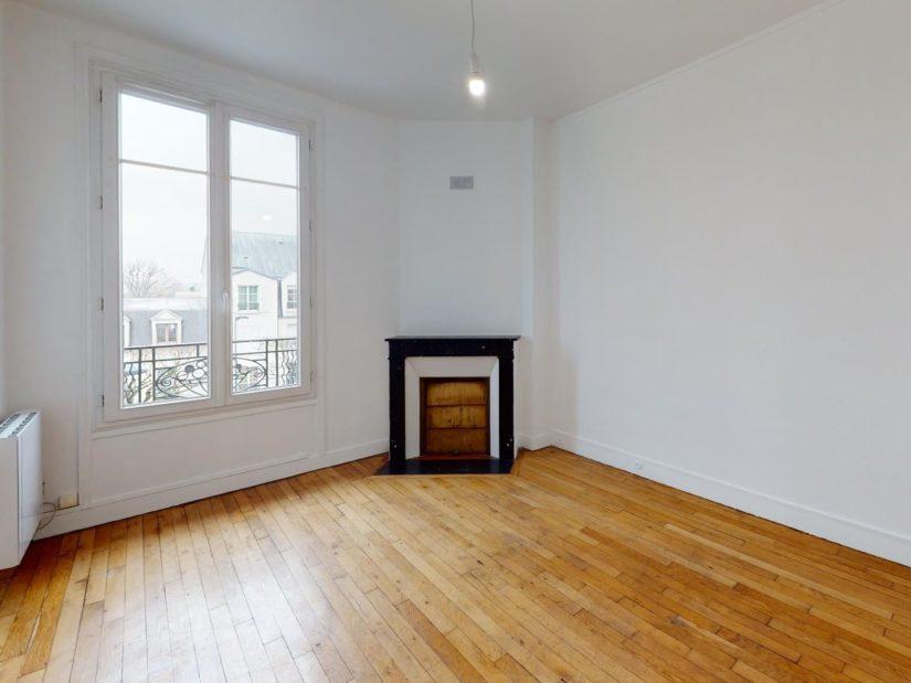 location appartement maison alfort: 3 pièces 51 m², chambre à coucher avec cheminée