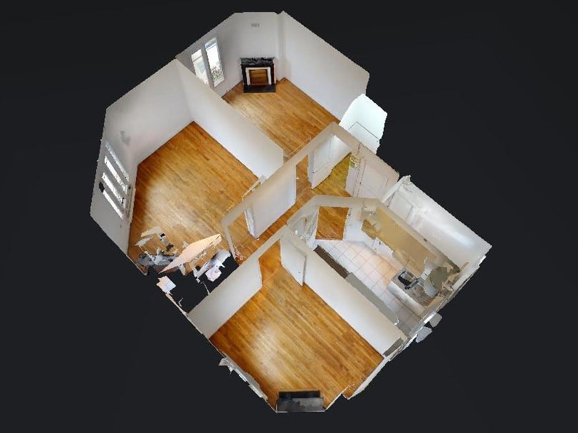 louer appartement maisons-alfort: 3 pièces 51 m², vue aérienne virtuelle