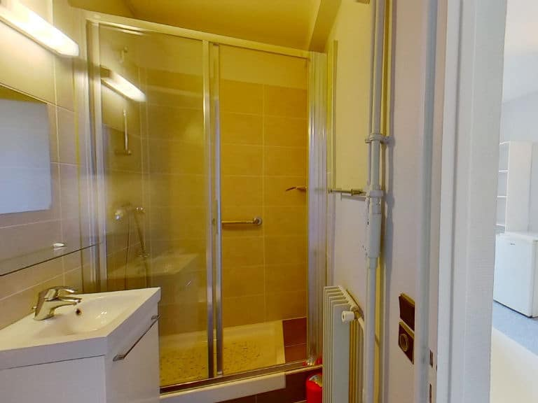immobilier 94: studio meublé 16 m² à louer à vincennes, salle d'eau impeccable
