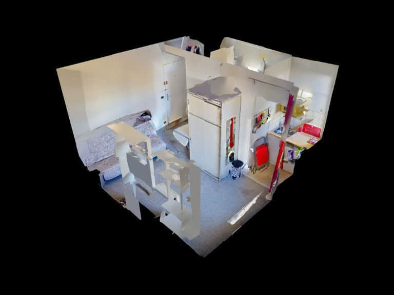 l adresse immobilier 94: studio meublé 16 m² refait à neuf à louer, plan détataillé