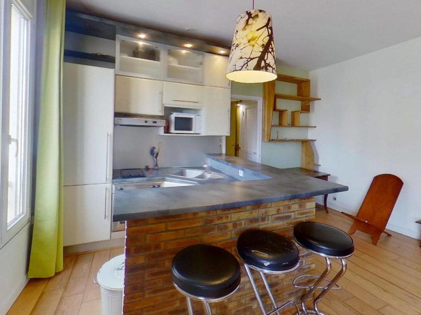 immo alfortville: appartement 2 pièces 45 m², cuisine ouverte, aménagée et équipée