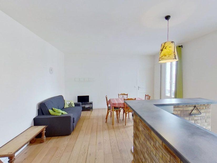 l'adresse alfortville: appartement 2 pièces 45 m², cuisine ouverte sur séjour spacieux