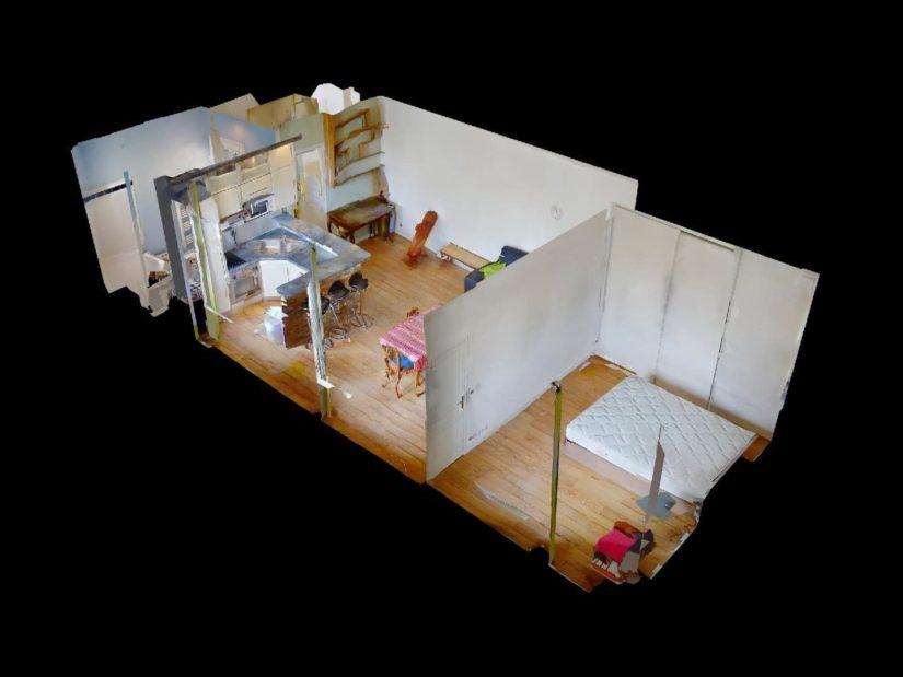 immobilier 94: 2 pièces 45 m² meublé, plan détaillé de l'appartement