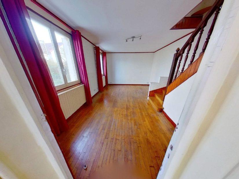 immobilier alfortville: maison 3 pièces, pièce à vivre lumineuse, 2 grandes fenêtres