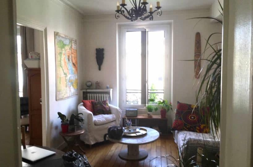 agence immobiliere maisons-alfort: appartement 3 pièces 53 m², séjour lumineux avec parquet au sol