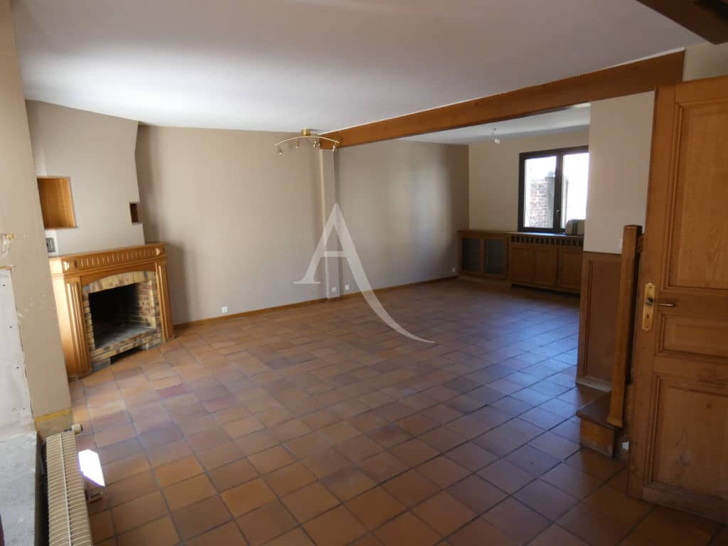 immo alfortville, maison à vendre 6 pièces 125 m², grand séjour avec cheminée