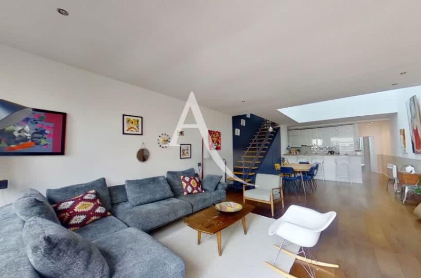 agence immobilière alfortville: appartement 5 pièces 125 m², immense pièce à vivre et cuisine américaine