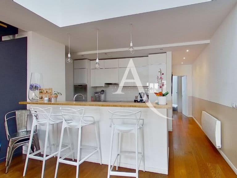 vente appartement alfortville: appartement 5 pièces 125 m²,plafond catédrale et cuisine américaine équipée