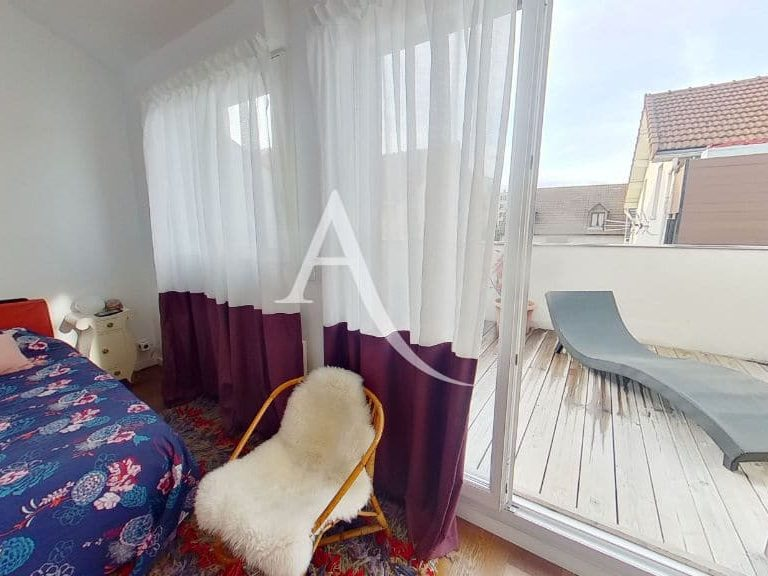 point de vente immobilier: appartement 5 pièces 125 m², première chambre à l'étage avec accès terrase