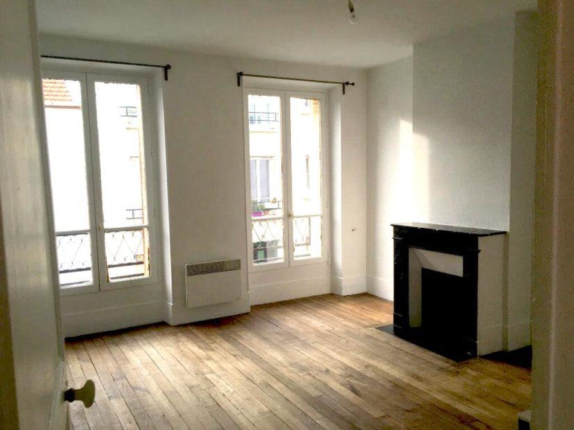 agence immo alfortville: 3 pièces 52 m², premier étage séjour lumineux avec parquet
