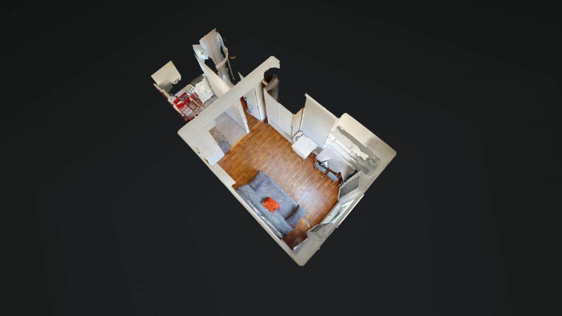 location studio dans le 94: 17 m², proche métro ligne 8, en vue 3d