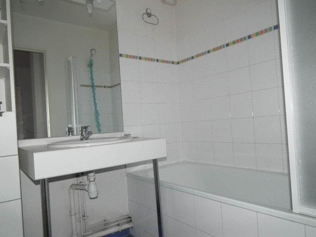 direct immobilier alfortville: 2 pièces 43 m², salle de bain avec baignoire, wc séparé