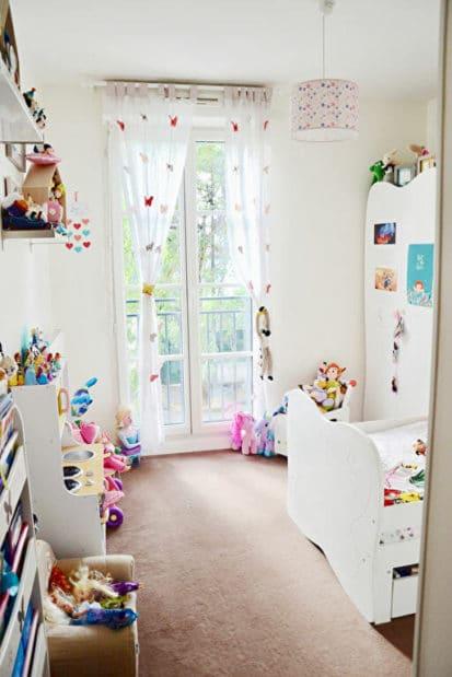 achat appartement maisons alfort: 3 pièces 62 m², belle chambre d'enfant avec une porte-fenêtre double