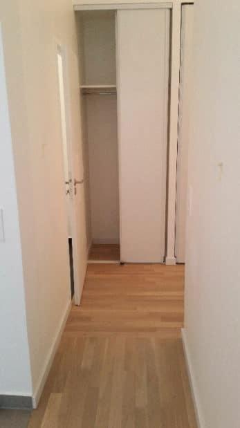 appartement maison alfort: studio 33 m² à louer, vue sur le couloir avec placards intégrés