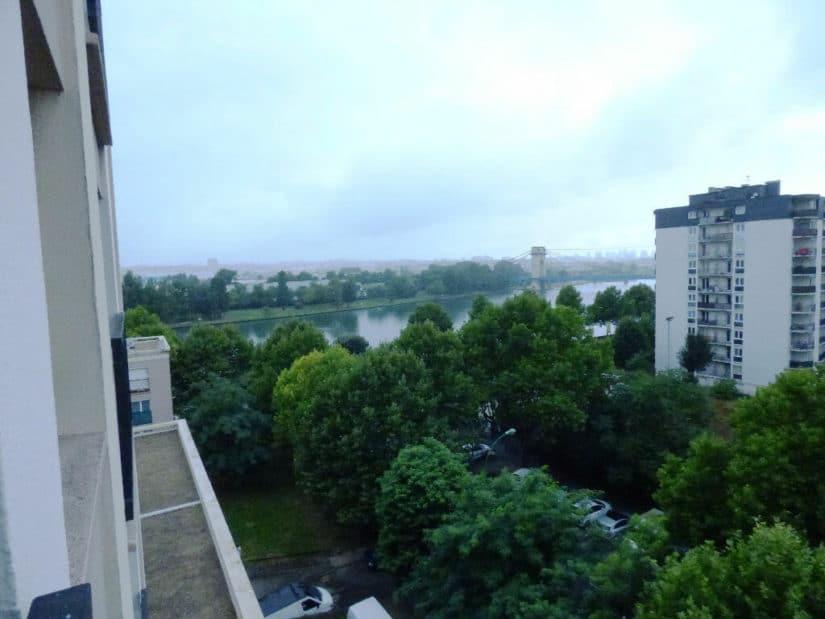 alfortville appartement location: studio 27 m², vue sur la marne, 6° étage, ascenseur