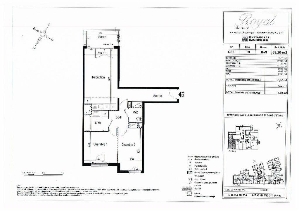 virginia gestion - appartement 3 pièce(s) 63.20 m² avec parking - annonce 2007 - photo Im03