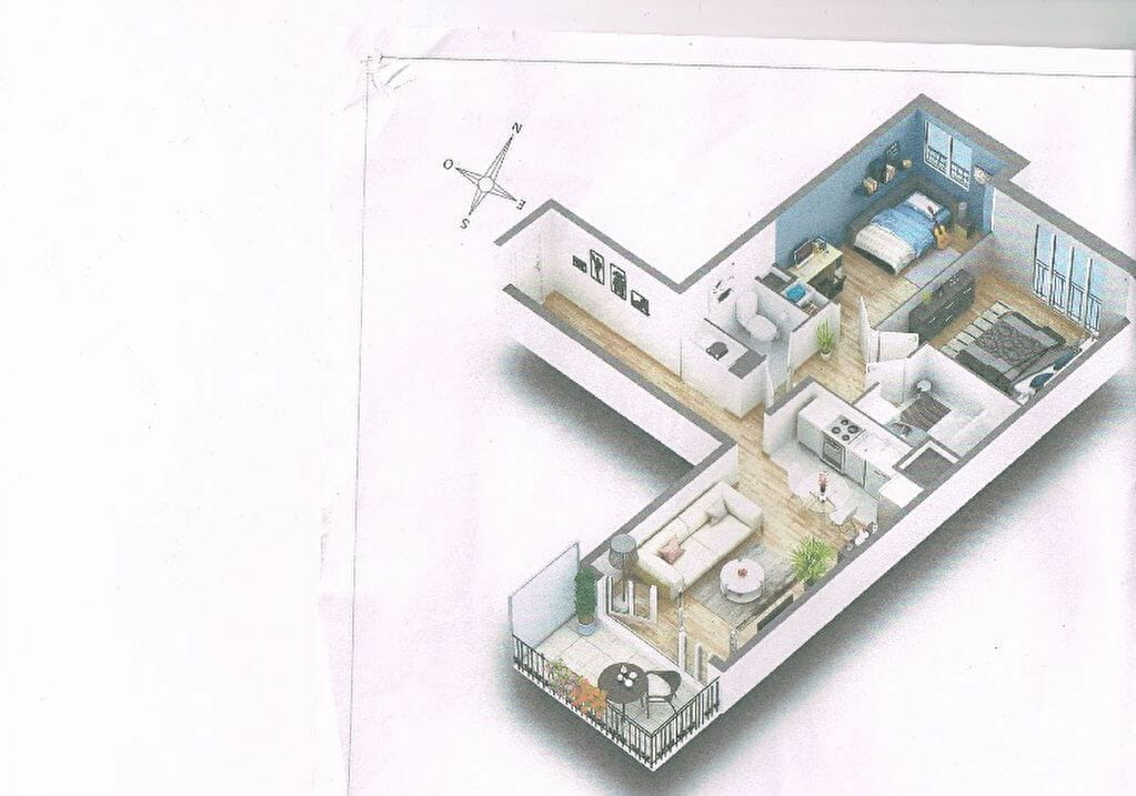 l'adresse valerie immobilier - appartement 3 pièce(s) 63.20 m² avec parking - annonce 2007 - photo Im04
