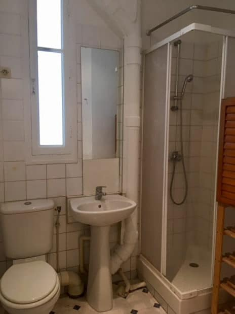 location appartement pas cher val de marne: 2 pièces 34 m², salle d'eau avec douche, lavabo et wc
