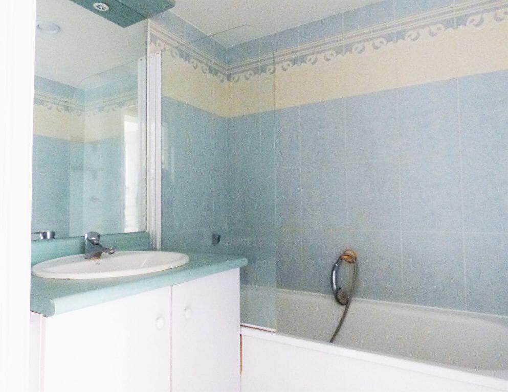 appartement a louer val de marne pas cher: 2 pièces 44 m², salle de bains avec baignoire et vasque