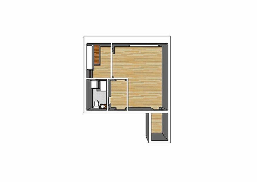 louer studio à alfortville: 32 m², plan d'architecte détaillé