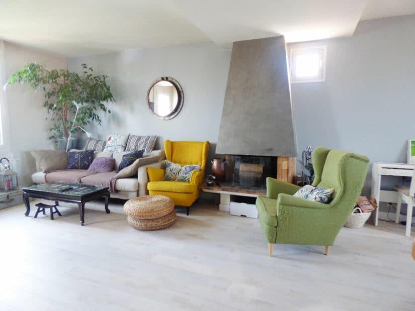 maison alfort appartement location: 4 pièces 70 m², beau séjour lumineux avec cheminée, loué meublé