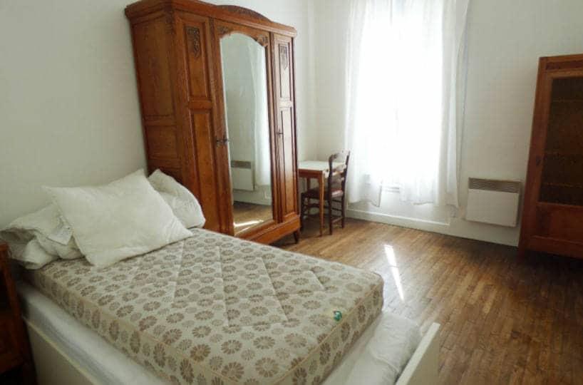 appartement maison alfort: 3 pièces, deuxième chambre lumineuse, au sol parquet chêne massif