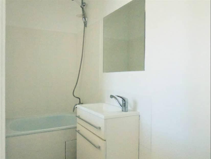 faire gerer alfortville: 2 pièces 31 m², salle de bains avec baignoire, vasque et miroir