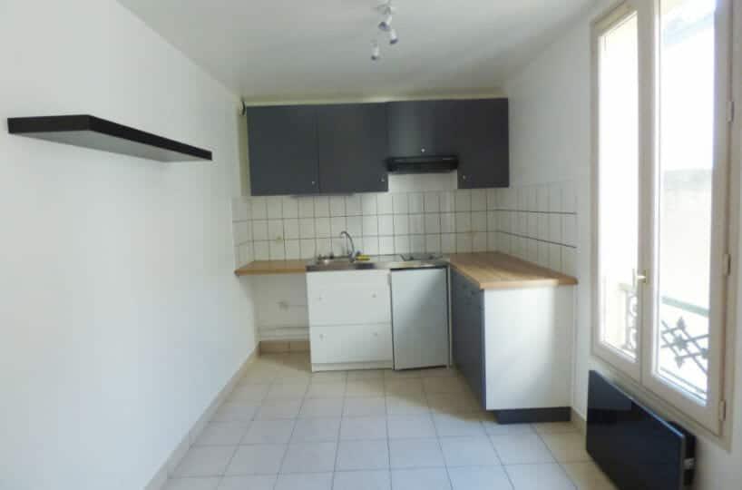 location maisons alfort, studio 36 m² secteur centre, cuisine américaine aménagée