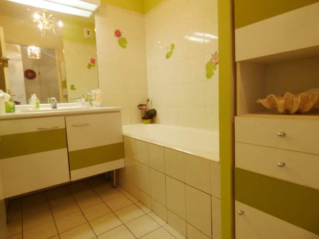 appartement a vendre maisons alfort: 3 pièces 82 m², première salle de bain avec baignoire