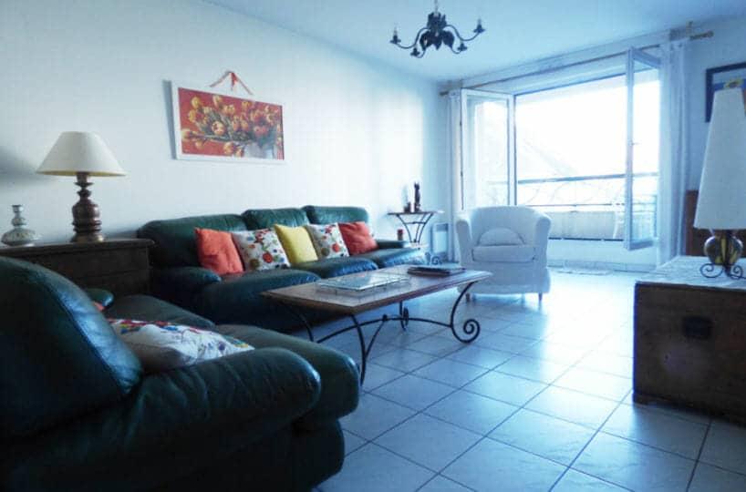 immobilier maison alfort: 3 pièces 82 m², séjour avec balcon de 6 m², vue sur parc
