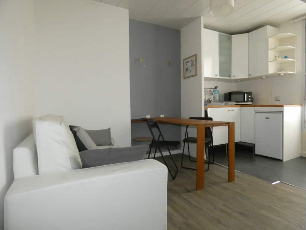 appartement alfortville location: 2 pièces 29 m², cuisine ouverte sur le salon