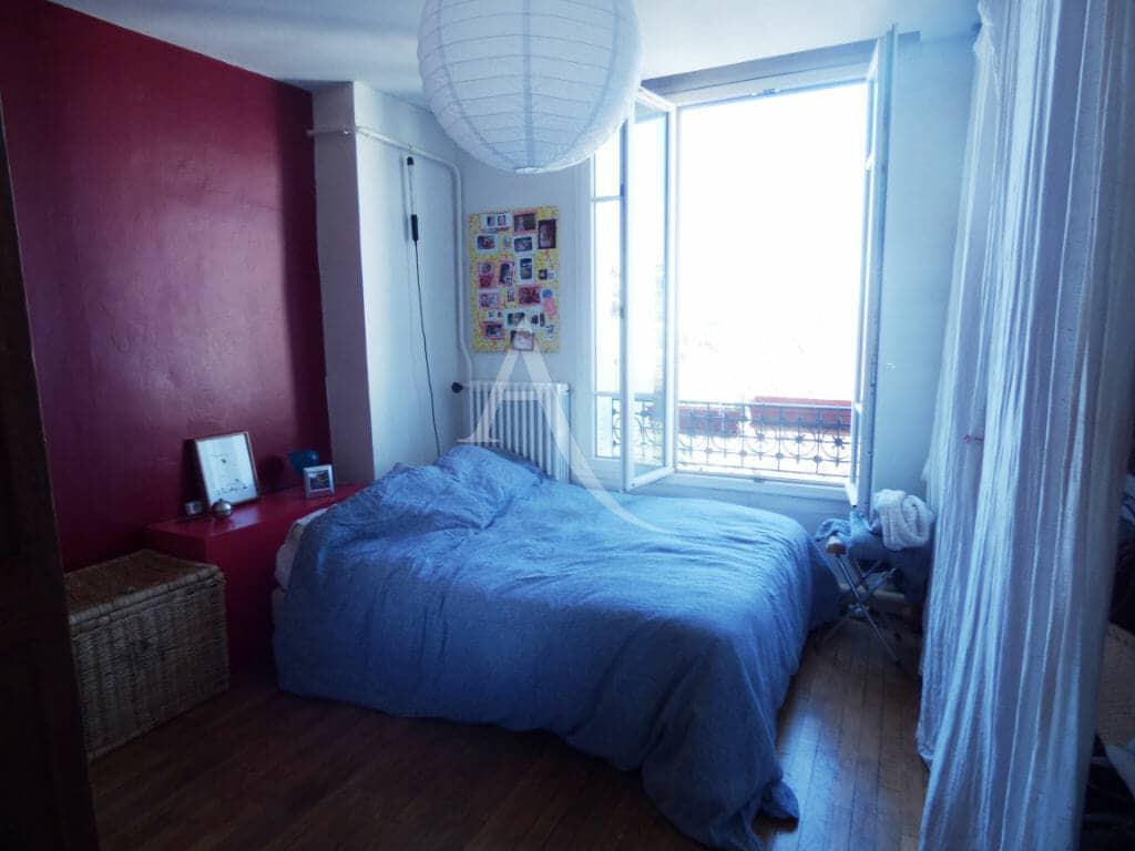 achat appartement alfortville: 3 pièces 54 m², chambre à coucher avec dressing
