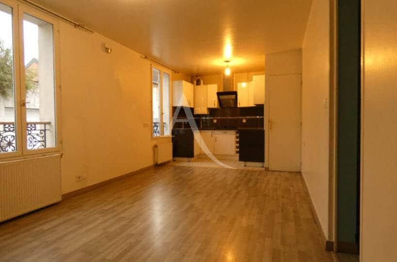 agence immo alfortville: 3 pièces 58 m², cuisine ouverte sur belle pièce à vivre