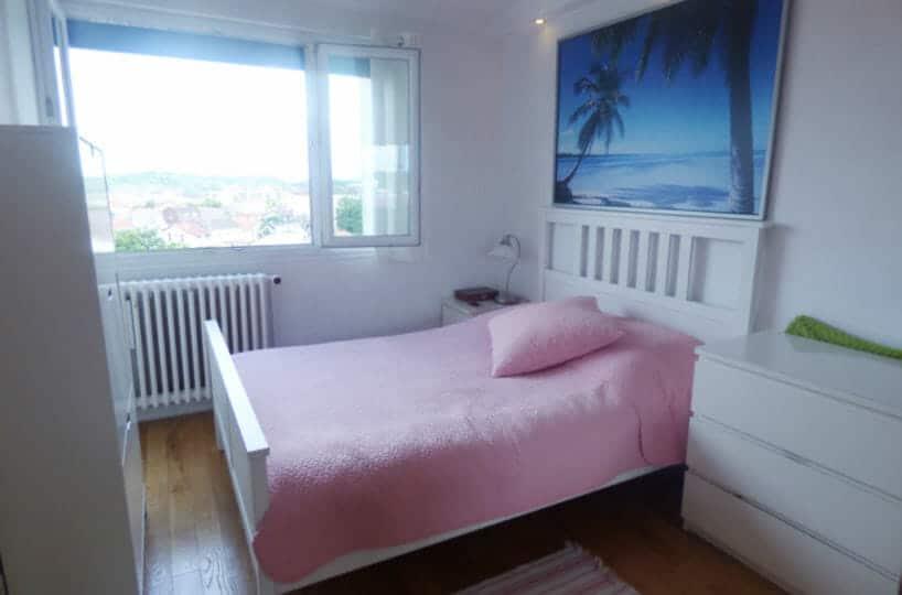 achat appartement maisons alfort: 3 pièces 53 m², 1° chambre lumineuse, grande fenêtre, luminaire encastré