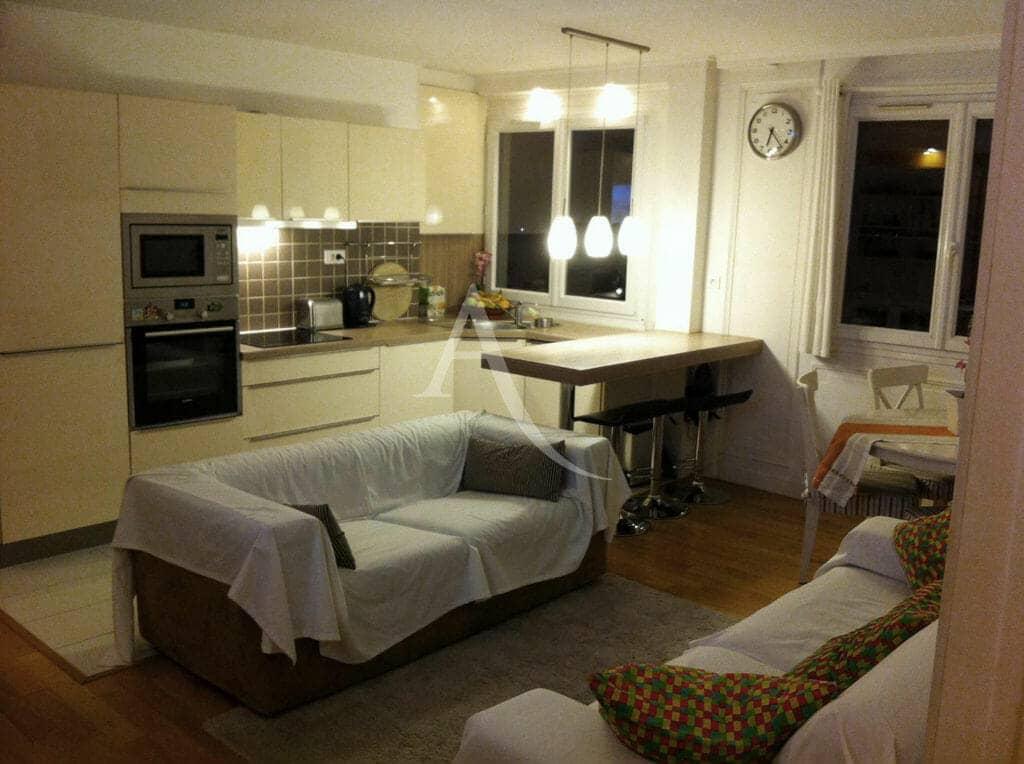 maison alfort appartement: appartement 3 pièces 53 m² à vendre, séjour, cuisine américaine aménagée et équipée
