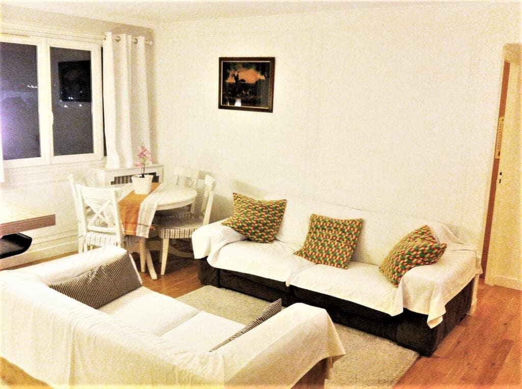 vente appartement maison alfort: 3 pièces 53 m², séjour, bon état, parquet chêne au sol