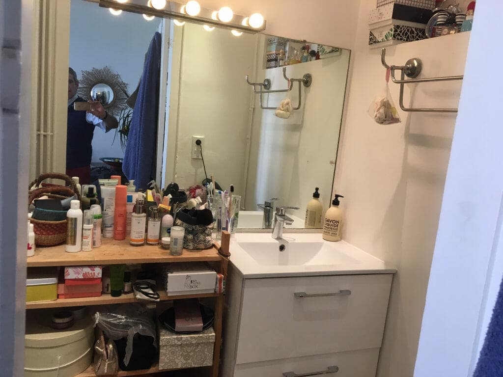 immo maisons alfort: 3 pièces 53 m², salle de bain avec douche et rangements, wc séparé