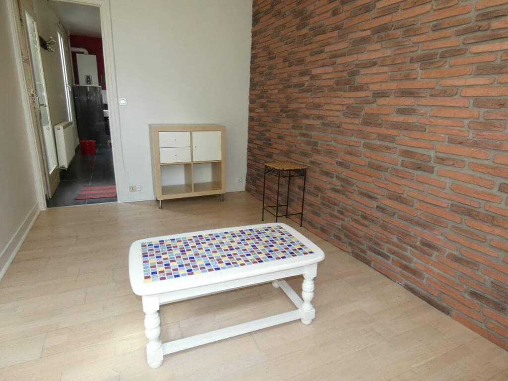 maison a louer, à alfortville - 3 pièces 41 m² - séjour avec accès cuisine