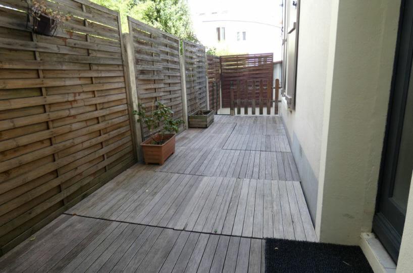 louer maison à alfortville - 3 pièces 41 m², allée extérieure revêtement bois