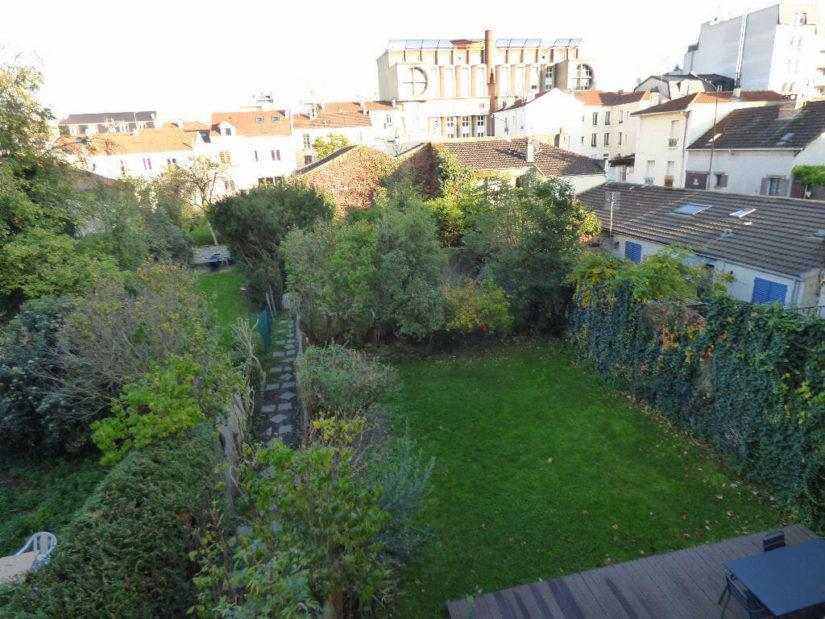 louer appartement à alfortville: 3 pièces 52 m², vue sur jardin privatif terrasse aménagée