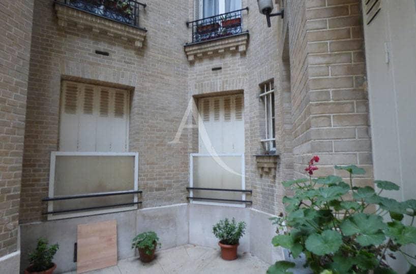 achat vente appartement: 22 m², studio au rez-de-chaussée donnant sur cour