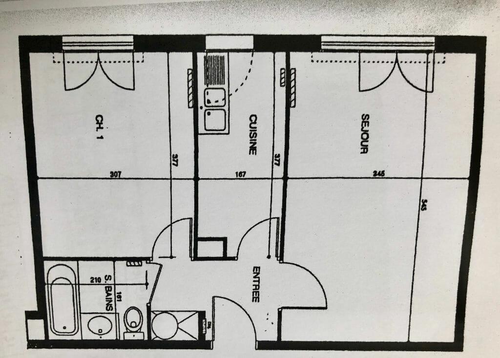 estimation appartement prix: 2 pièces 44 m², plan détaillé, saint-maurice