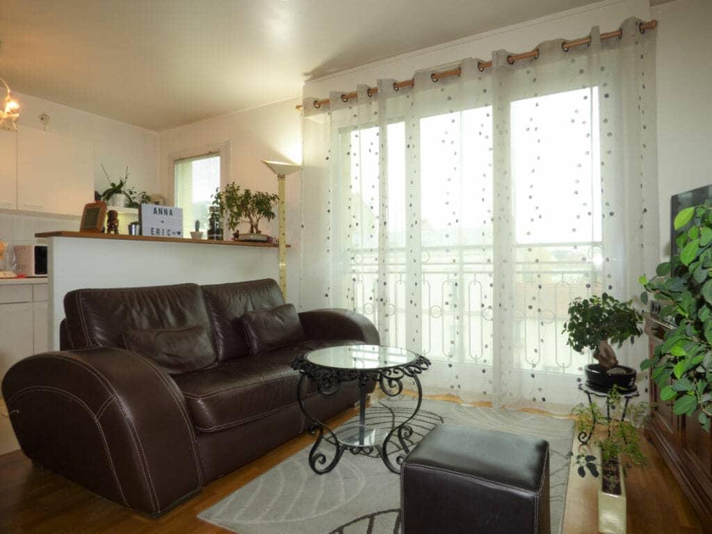 agence location immobiliere: 2 pièces 44 m², salon moderne avec cuisine américaine, saint-maurice
