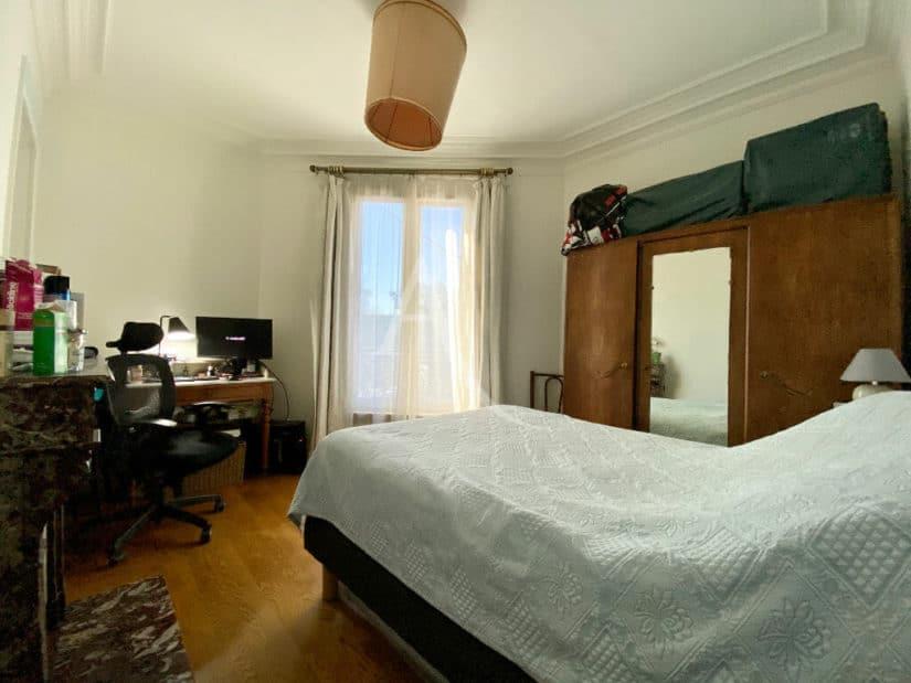 vente direct immo: appartement 3 pièces 68 m², seconde chambre avec cheminée