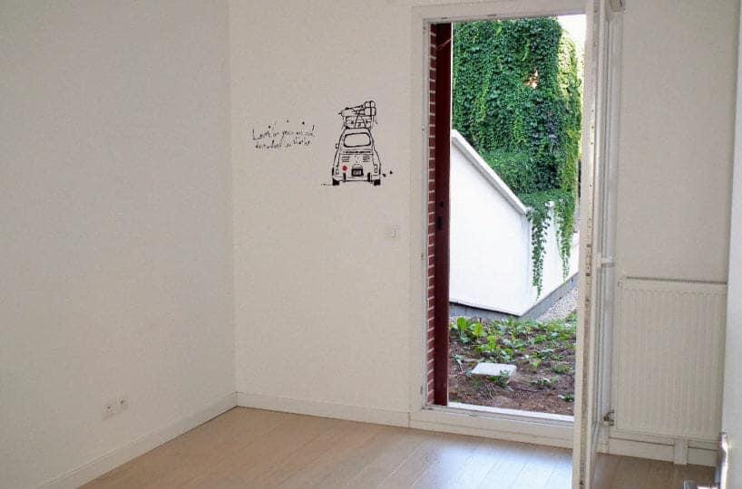 appartement alfortville: 3 pièces 64 m², chambre avec vue sur jardin