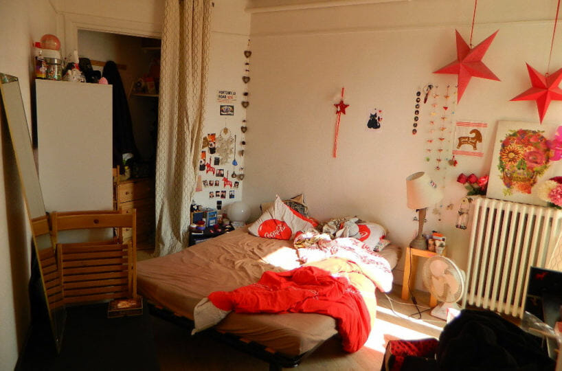 vente maison maisons-alfort: studio 16 m², chambre avec coin rangement