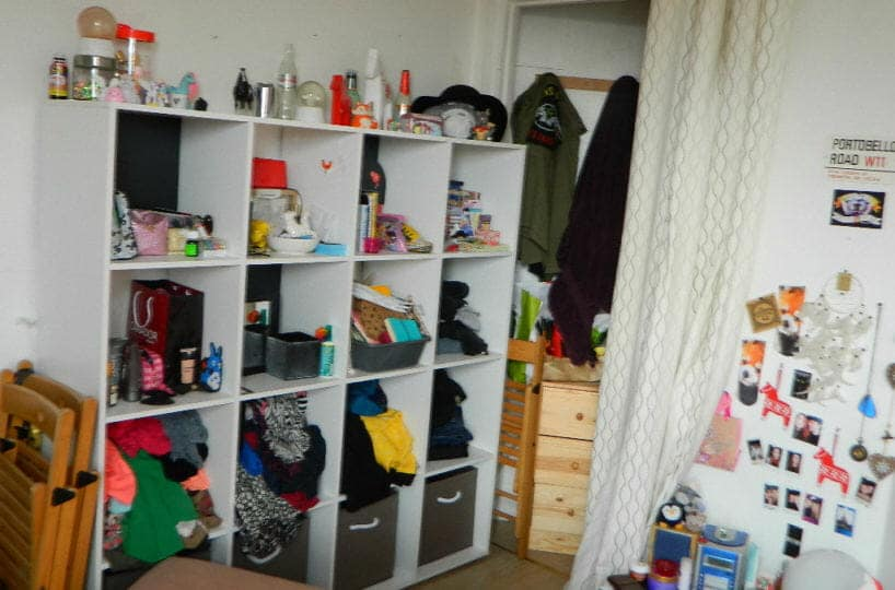 vente studio maison alfort: 16 m², aperçu chambre avec penderie
